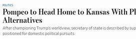 新政府上台后蓬佩奥去哪?美媒:回老家可能竞选公职 的图像结果