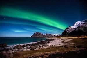 Wallpaper, Norway, 5k, 4k, Wallpaper, Hd, Lofoten, Islands, Mountains, Sea, Shore, Night, Northern