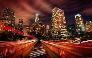 Downtown, Los, Angeles, At, Night, Mac, Wallpaper, Download