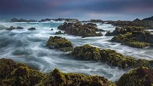 California, Coast, Monterey, Bay, Pacific, Ocean, Under, Cloudy, Sky, Hd, Nature, Wallpapers
