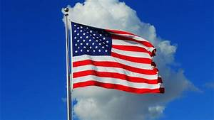 American, Flag, In, White, Cloudy, Sky, Background, 4k, Hd, American, Flag, Wallpapers