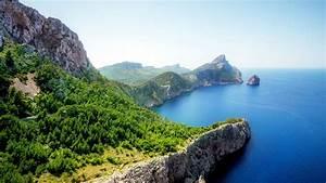 Wonderful, Islands, Landscape, Blue, Ocean, Rocks, Green, Trees, 4k, Hd, Desktop, Wallpaper, 3840x2160