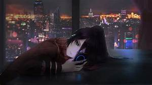 Wallpaper, Anime, Girl, Night, 4k, Art, 20290