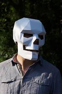 Polygon, Paper, Skull, Mask
