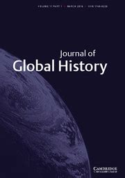 Image result for journasl of global history