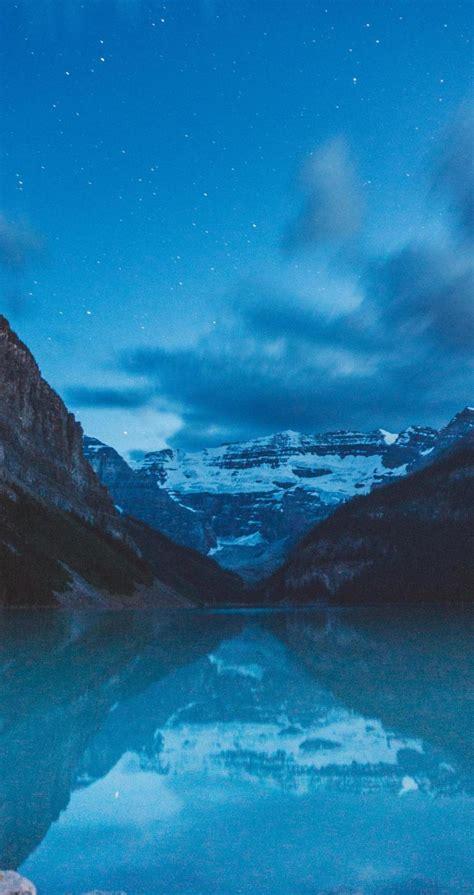 蓝色的山水美景,锁屏图片,高清手机壁纸,风景-回车桌面
