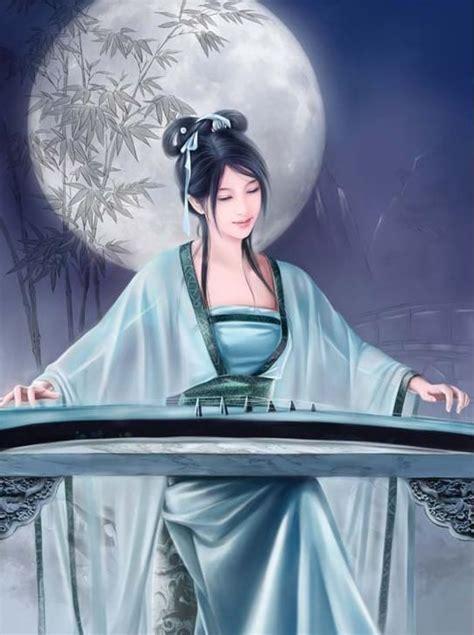 弹琴的动漫美女图片