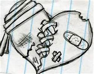 Drawn Broken Heart Emotional Pencil And In Color