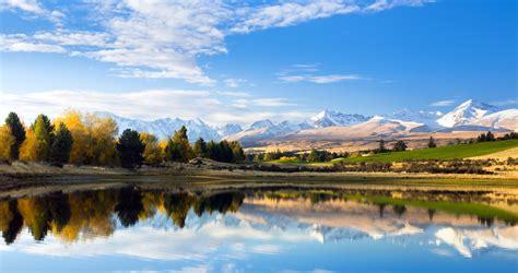 新西兰秘密山湖倒影风景4096x2160桌面壁纸免费PNG素材下载,七图网 ...