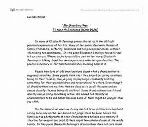 Compare Contrast Essay Examples High School My Grandmother Essay For Class   Thesis For Narrative Essay also Essays On Business Ethics My Grandmother Essay Amazing College Essays My Grandmother Essay In  Synthesis Example Essay