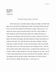 Essays Paying College Athletes Archaeology Dissertation Ideas Essay  Essays On Paying College Athletes My School Essay In English also Easy Persuasive Essay Topics For High School  General Paper Essay