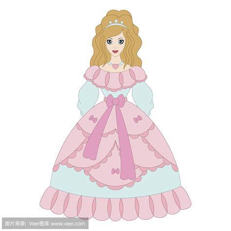 公主的礼服怎么画