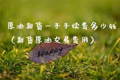 原油手续费多少钱一手