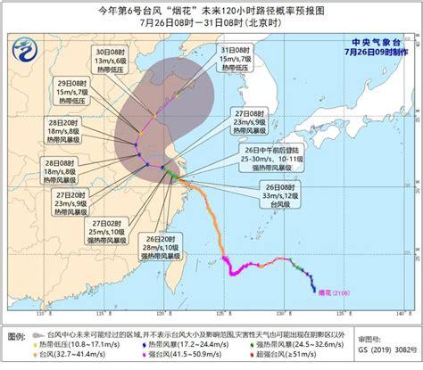 台风烟花路径