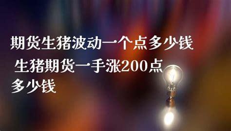生猪期货一个点多少钱
