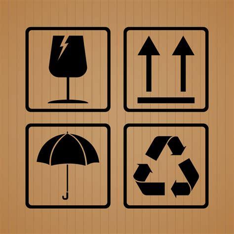 纸箱上面各种的标志