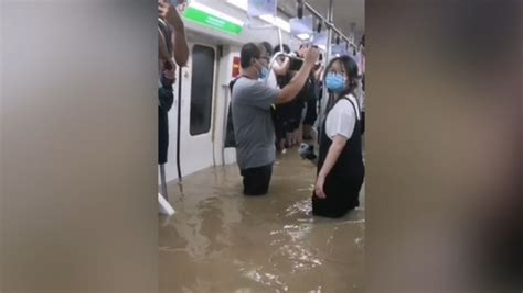 郑州地铁被困视频